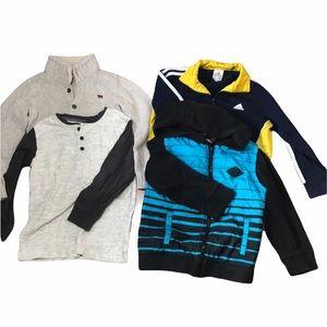 Boys sweater bundle size 6-7 adidas hawk Carter's Gymboree